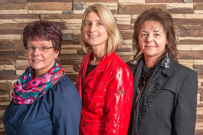 Mitarbeiterinnen Martina Mader, Susanne Bielmeier und Heike Raster